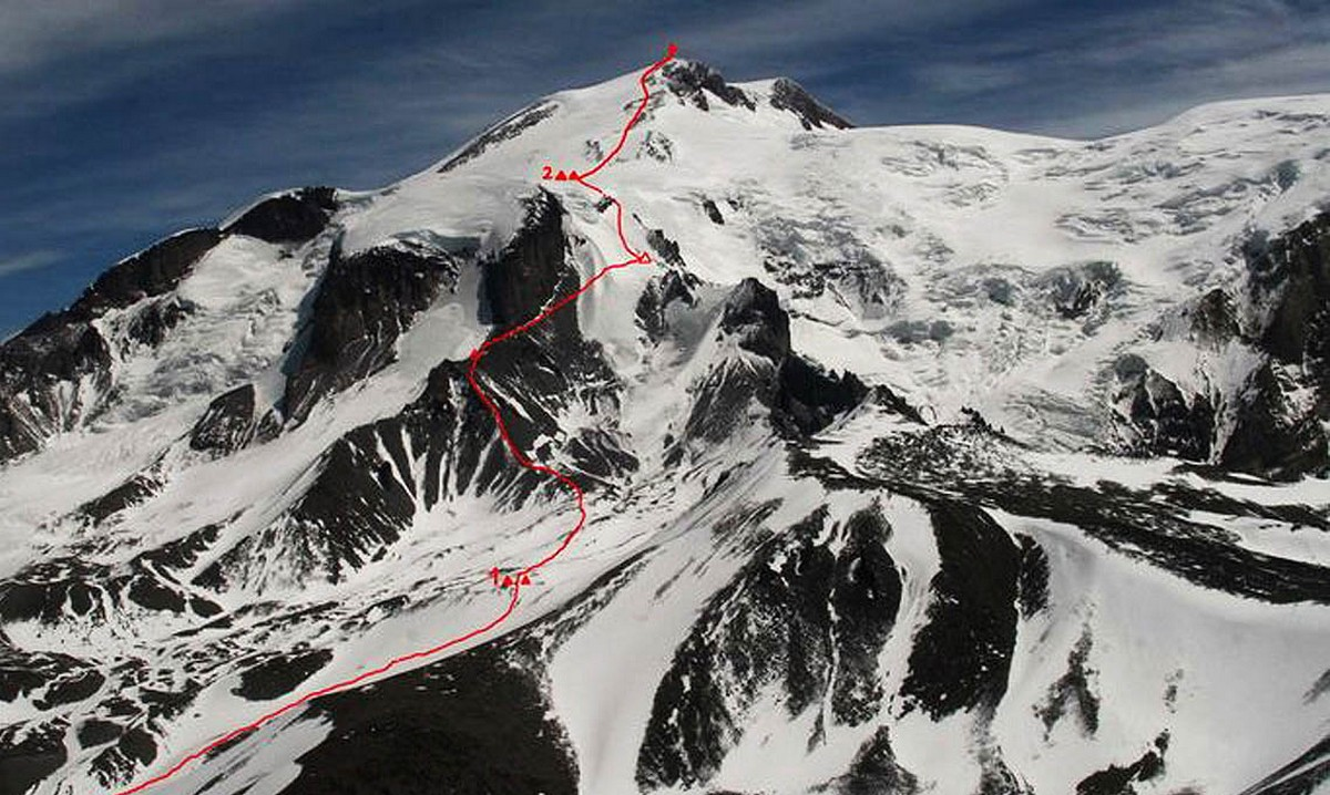Нитка маршрута на Эльбрус с Запада